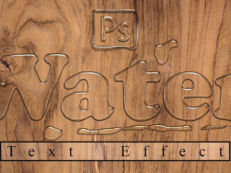 Water Text Effect | Photoshop Effect | Photoshop Tutorial