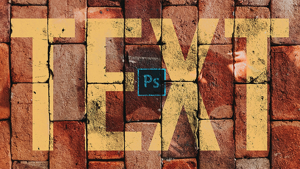 how to blend text to any surface in photoshop