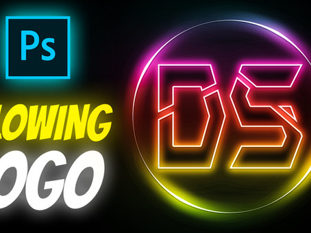 Neon Glowing Logo Design in Photoshop | Photoshop Tutorial