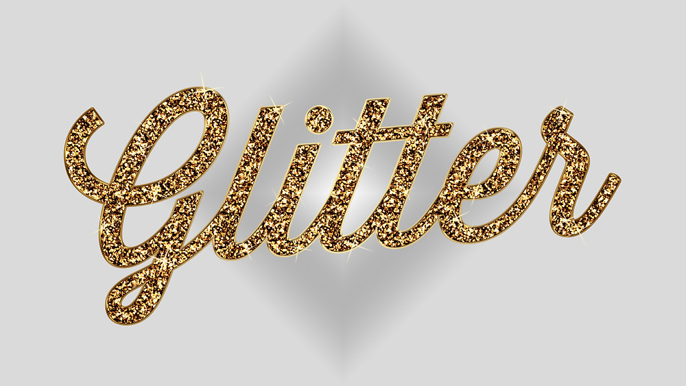 glitter text effect in photoshop