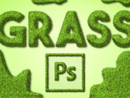 Grass Text Effect | Photoshop Effect | Photoshop Tutorial