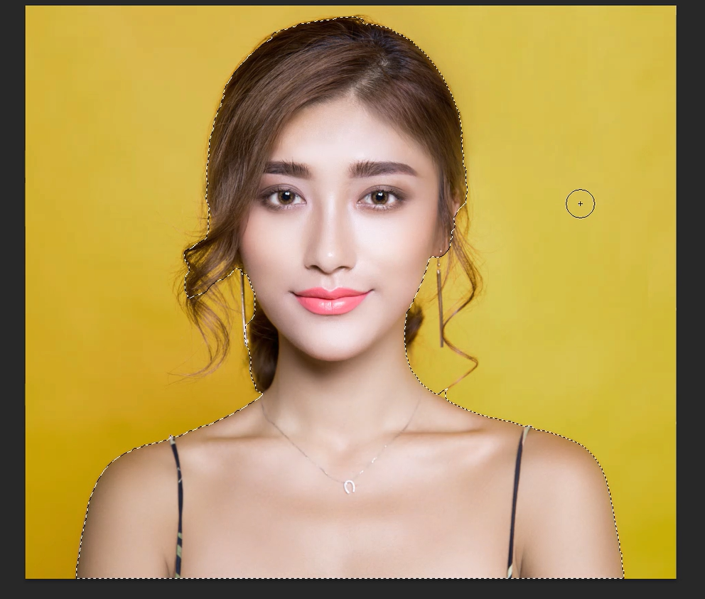 selection of model in photoshop