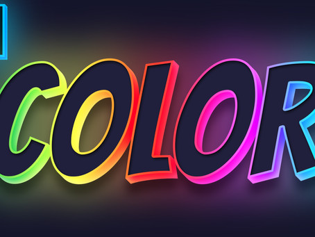3D Colorful Glowing Text Effect | Photoshop Effect | Photoshop Tutorial