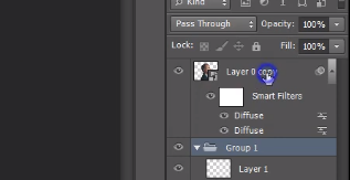 Right click on layer in Photoshop