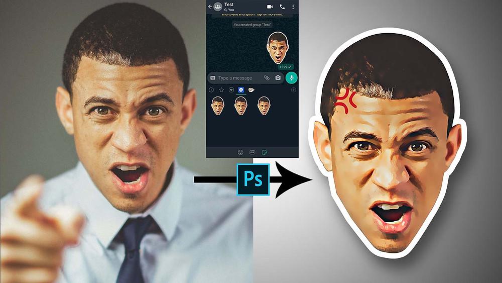 create customer sticker in photoshop