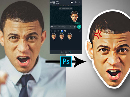 Create Custom Sticker in Photoshop | Photoshop Effects | Photoshop Tutorial