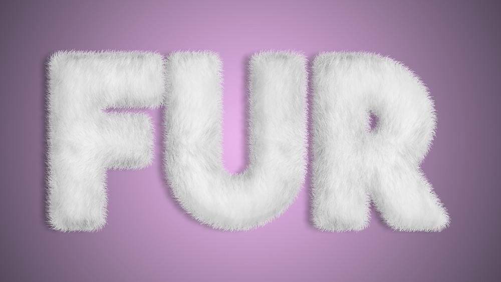 fur text effect photoshop