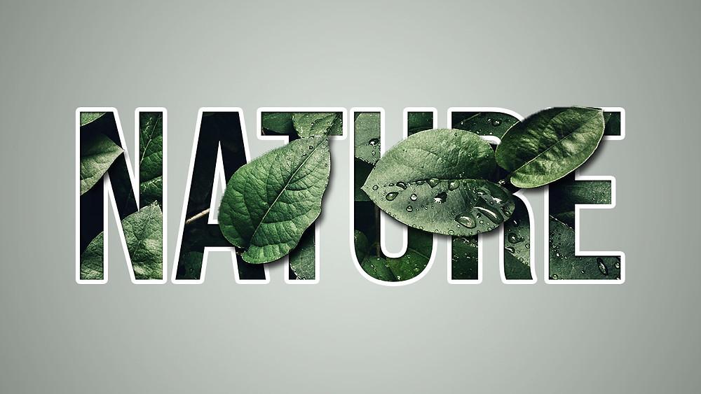 creative image inside text effect photoshop