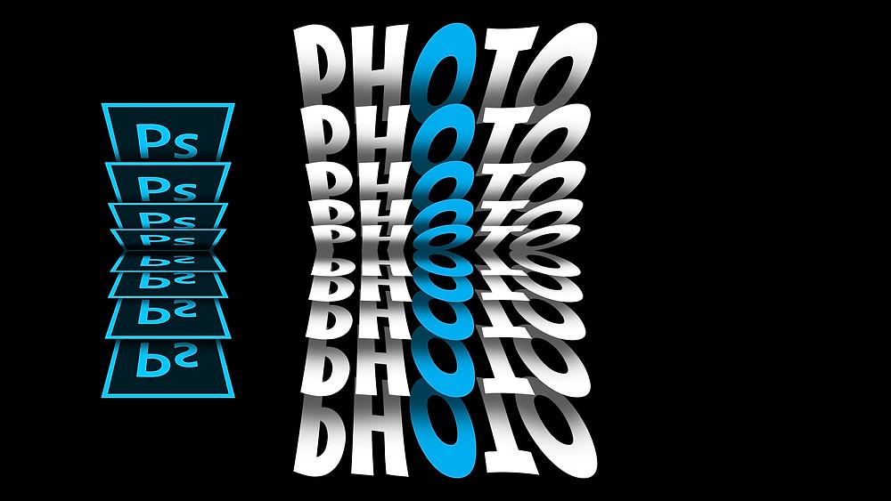 flip text effect in photoshop