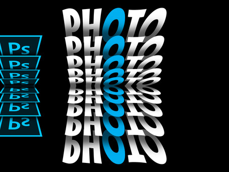 Flip Text Effect | Photoshop Typography | Photoshop Tutorial