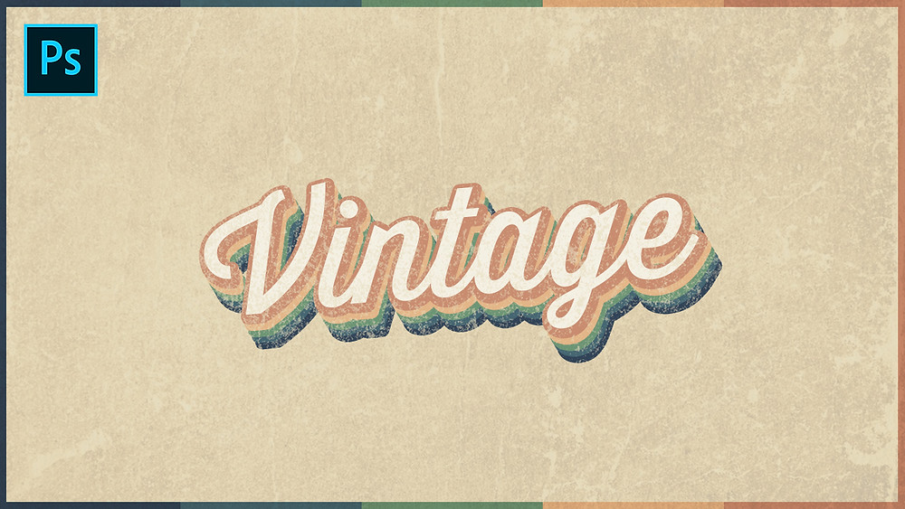 retro text effect in photoshop