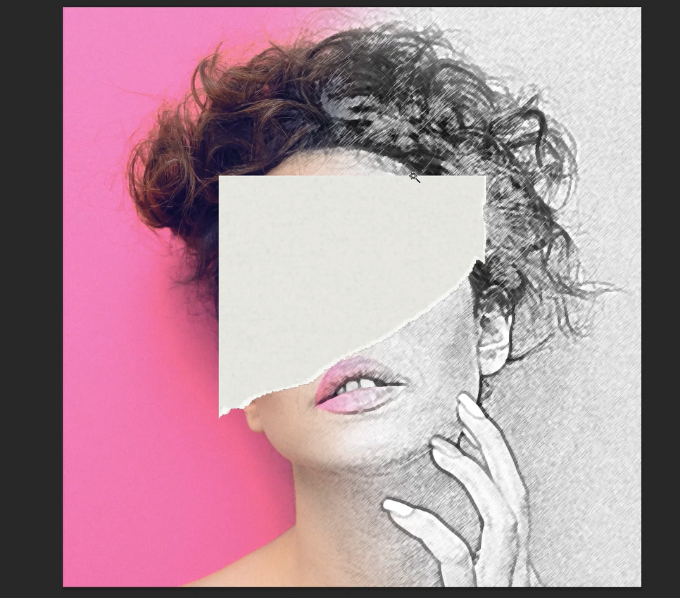 placing torn paper image in photoshop