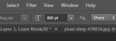 set font size in photoshop
