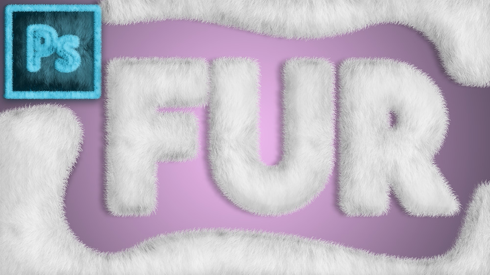 fur text effect in photoshop