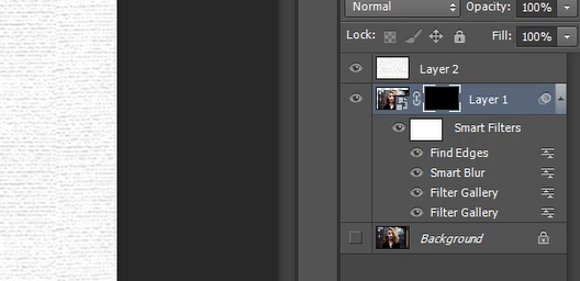 How to invert selection of Add layer mask in Photoshop