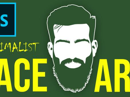 Minimalist Face Art using Pen Tool | Photoshop Effect | Photoshop Tutorial