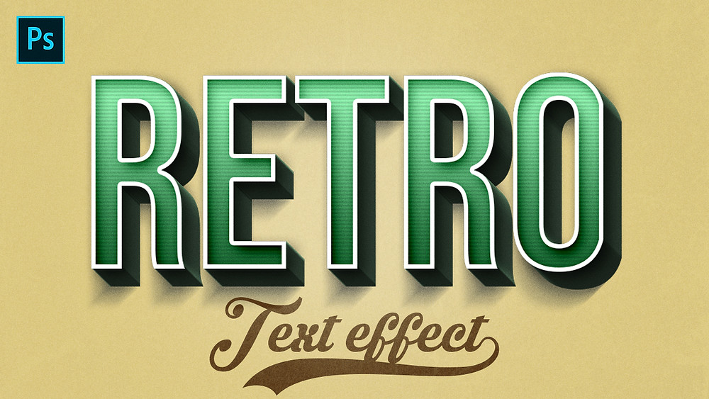 retro 3d text effect in photoshop