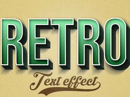 Retro 3D Text Effect | Photoshop Tutorial
