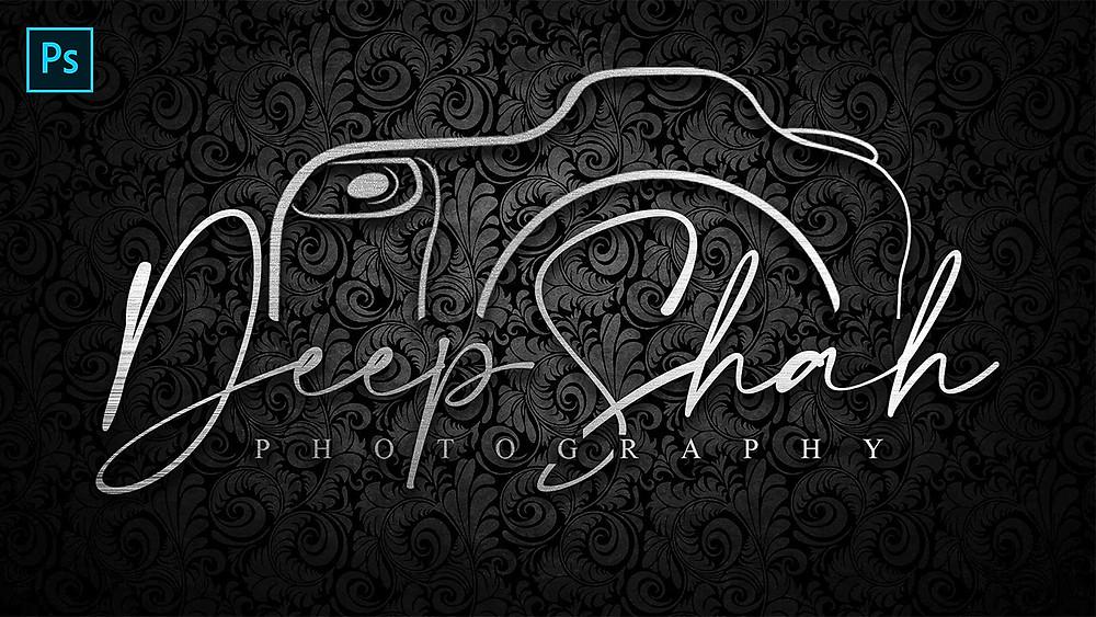 create signature logo for photographers using photoshop