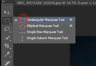 rectangular marquee tool icon photoshop