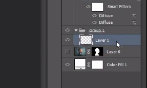 making a layer active in Photoshop