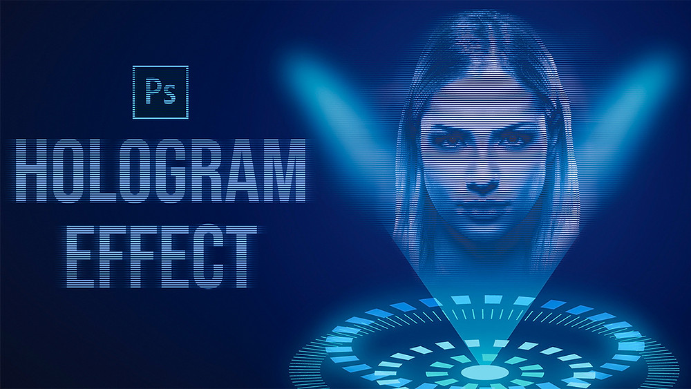 how to give this hologram effect to your photos in photoshop