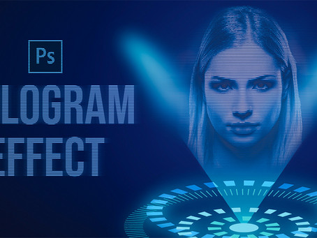 Hologram Effect | Photoshop Effect | Photoshop Tutorial