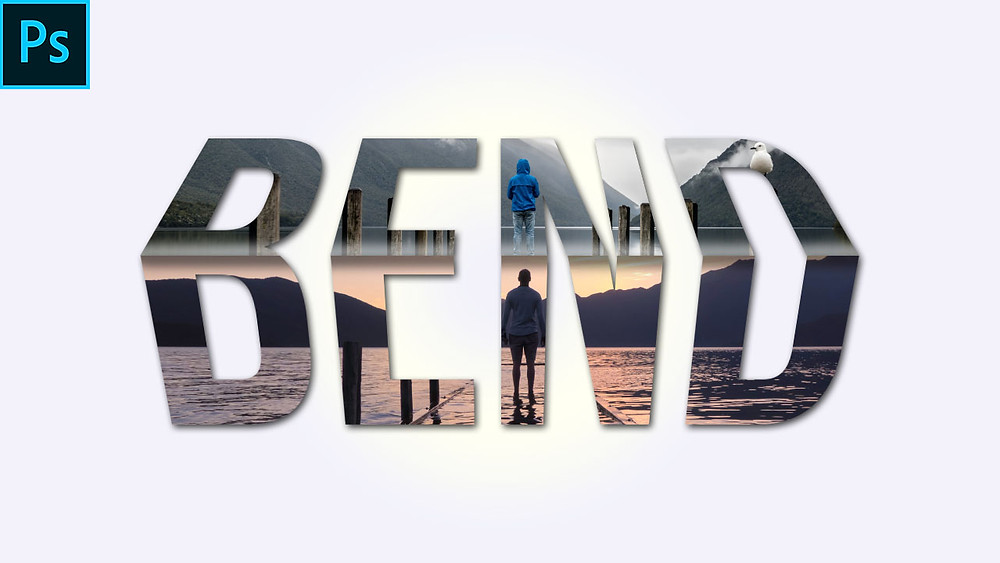 bend 3d text effect in photoshop
