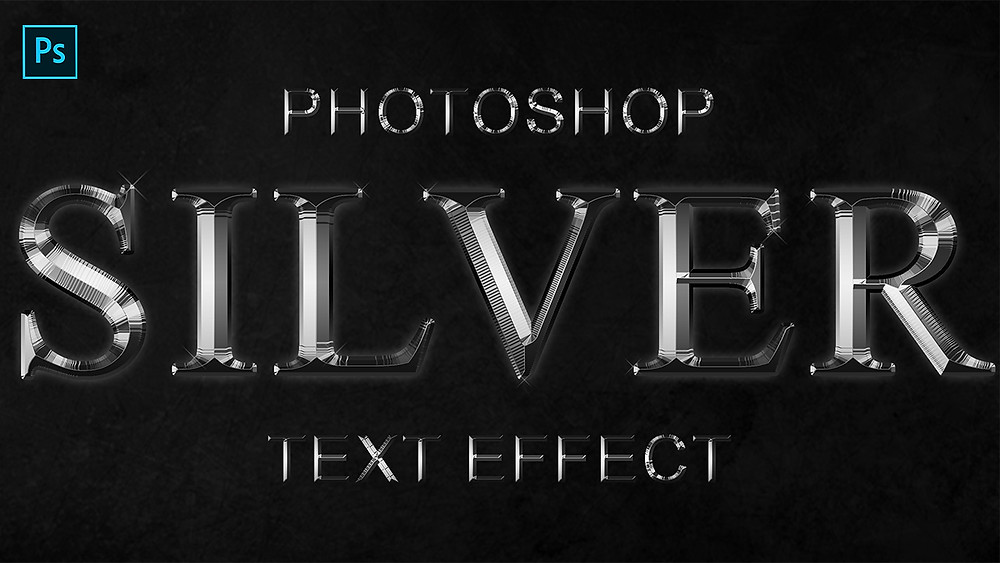 photoshop silver metal text effect