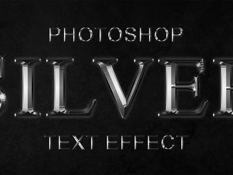 Photoshop Silver Text Effect | Photoshop Text Effects | Photoshop Tutorial