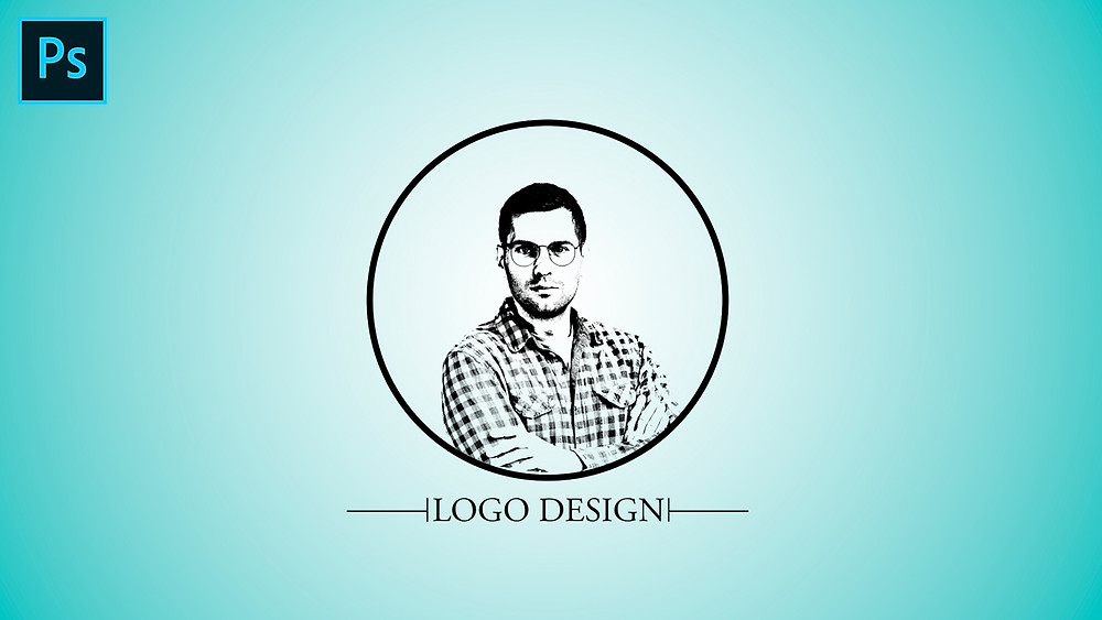 threshold logo design from portrait in photoshop