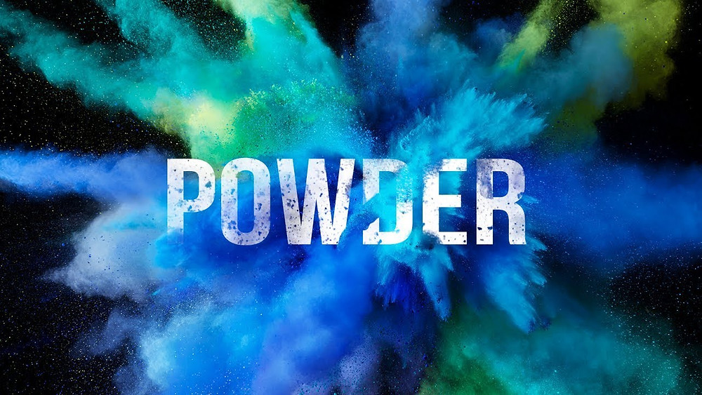 Learn how to create this Powder blast text effect in Photoshop
