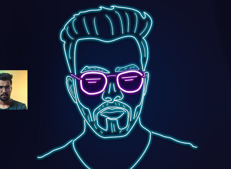 Neon Portrait Illustration in Photoshop | Photoshop Effect | Photoshop Tutorial
