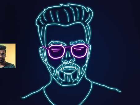 Neon Portrait Illustration in Photoshop | Photoshop Effect | Photoshop Tutorial