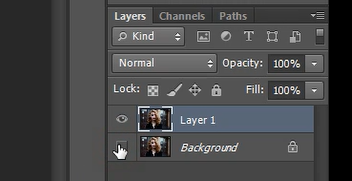 how to hide a layer in Photoshop
