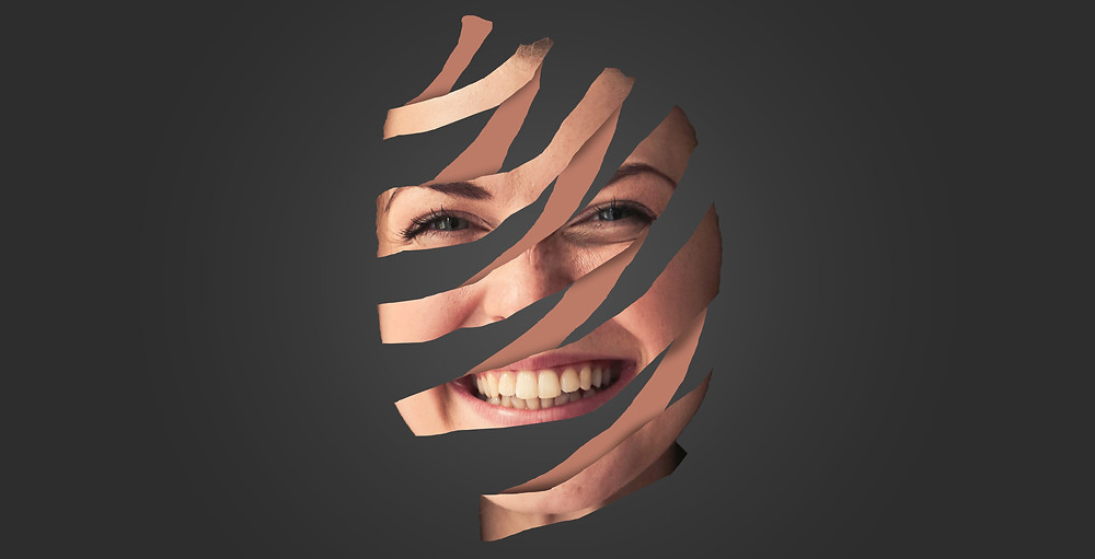 Face peel effect in Photoshop