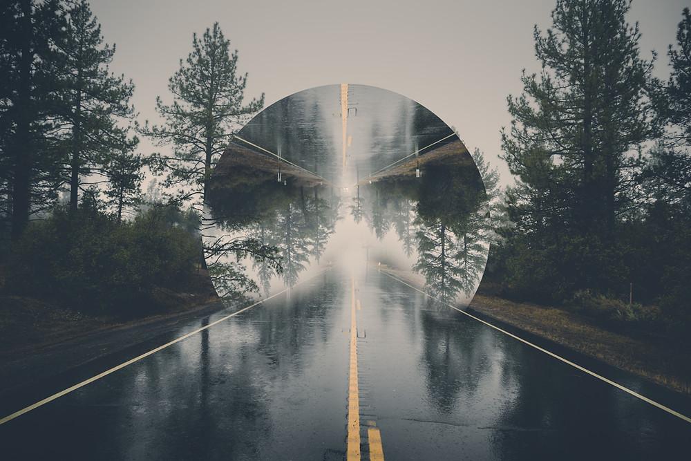 landscape reflection photoshop