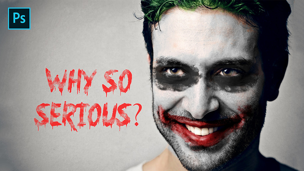 joker effect in photoshop