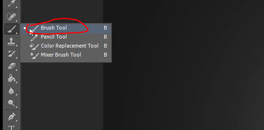 Brush tool icon in Photoshop