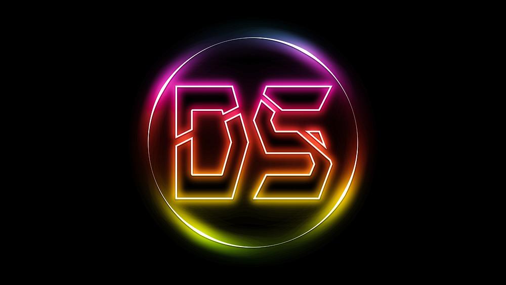 glowing neon logo design in photoshop