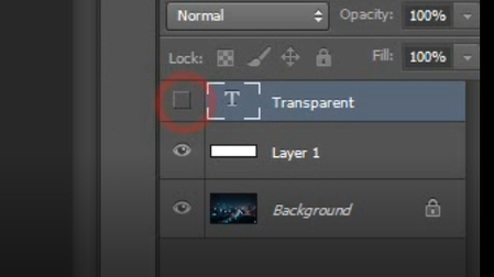 how to hide layer in photoshop