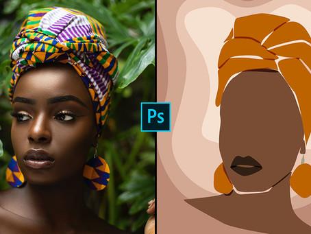 Simple Illustration using Pen Tool | Photoshop Tutorial