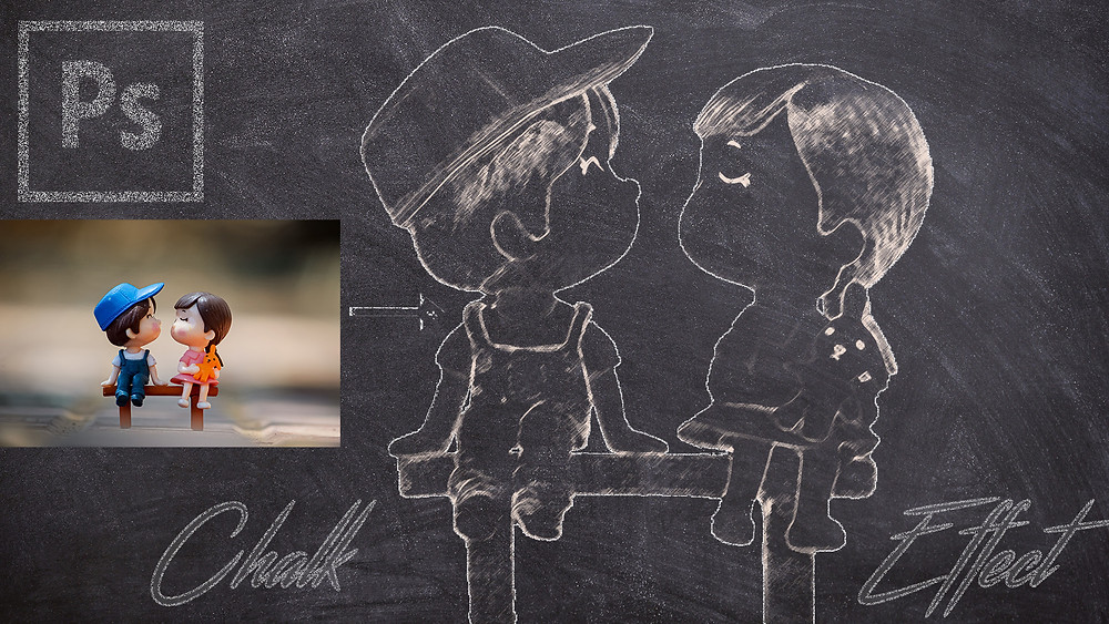 how to give chalk effect to your photos in photoshop
