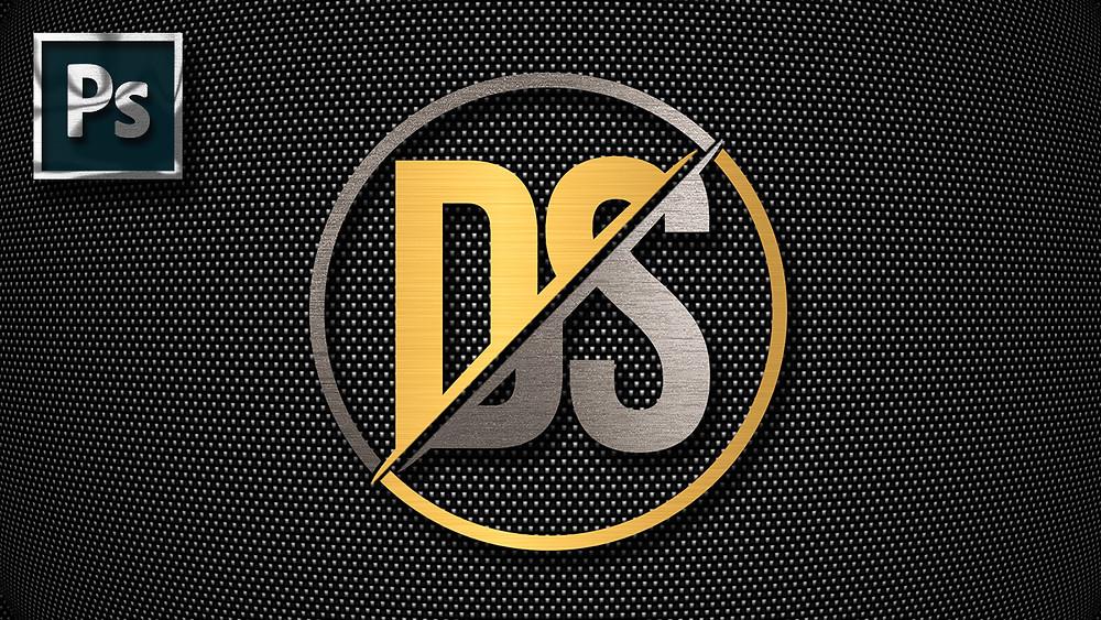 simple metal logo design in photoshop