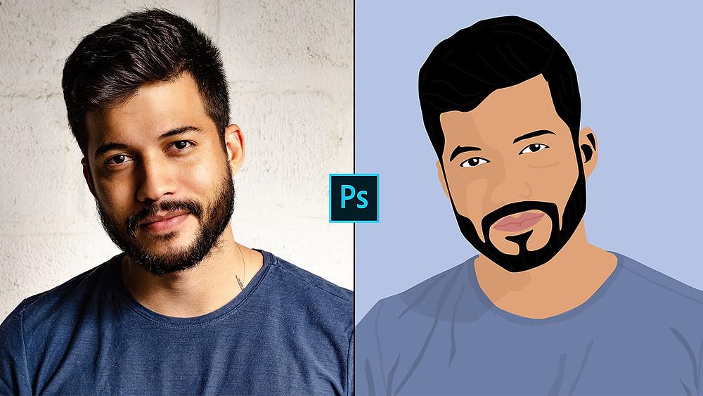 convert portrait photo to art in photoshop