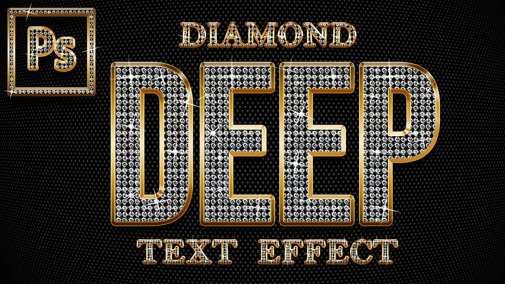 how to create diamond text effect in photoshop
