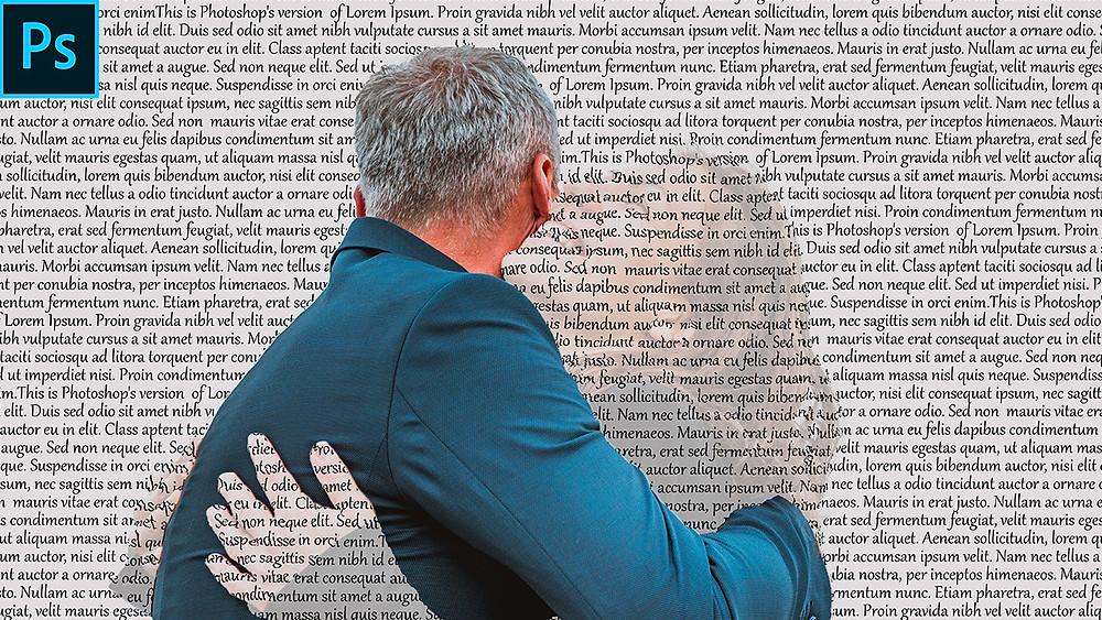 text wrap portrait effect in photoshop