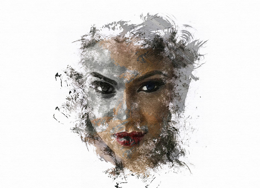 ink smudge effect in photoshop