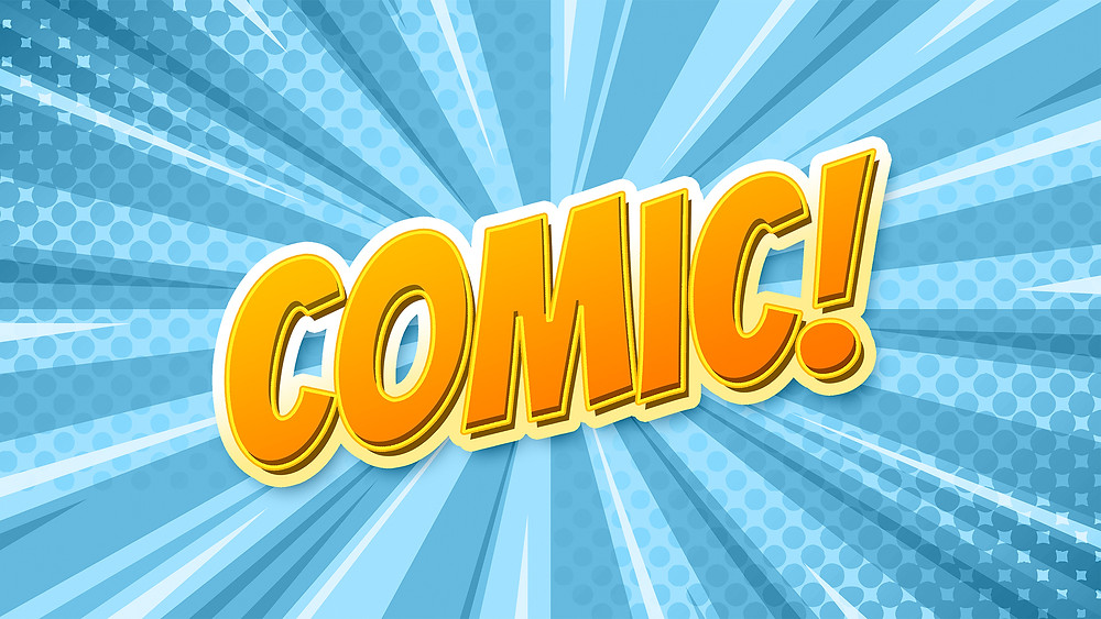 comic book cartoon text effect