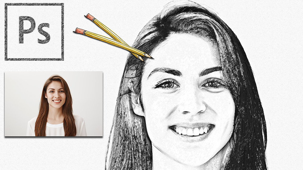 how to give pencil sketch effect in photoshop